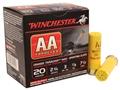 "Winchester AA TrAAcker Ammunition 20 Gauge 2-3/4"" 7/8 oz #7-1/2 Shot Orange Wad"