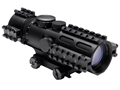 NcStar Tri-Rail Series Compact Rifle Scope 44mm Tube 3-9x 42mm Blue Illuminated Mil-Dot Reticle with Weaver Mount Black