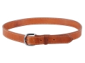 "El Paso Saddlery #20 Dress Belt 1-1/2"" Brass Buckle Leather Russet Brown 40"""