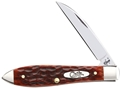 "Case Tear Drop Folding Pocket Knife 2.8"" Wharncliffe Point Chrome Vanadium Steel Blade Bone Handle Chestnut"