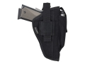 Bulldog Extreme Belt and Clip Holster Ambidextrous 1911 Officer, Glock 17, 19, 22, 23, 31,  32, 36, H&K USP, S&W 459, 559, 910 Nylon Black