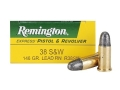Remington Express Ammunition 38 S&W 146 Grain Lead Round Nose Box of 50