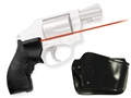 Crimson Trace Lasergrips Smith & Wesson J-Frame Round Butt Polymer Black with Gould Holster