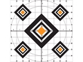 """Do-All Black Diamond 10"""" x 10"""" Paper Target Package of 10"""