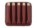 Boyt Ammo Wallet Rifle Ammunition Carrier 5-Round Short Magnum Cartridges Leather Brown