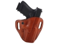 El Paso Saddlery Crosshair Outside the Waistband Holster Right Hand Glock 17, 22, 31  Leather Russet Brown