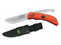 Outdoor Edge SwingBlaze Folding Hunting Knife 2-Blade AUS-8 Stainless Steel Blade Kraton Handle Blaze Orange
