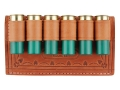 Product detail of Oklahoma Leather Belt Slide Shotshell Ammunition Carrier 6-Round 12 Gauge Leather Brown