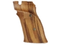 Hogue Fancy Hardwood Grips S&amp;W 41 Right Hand Thumb Rest Checkered Goncalo Alves