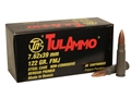 TulAmmo Ammunition 7.62x39mm 122 Grain Full Metal Jacket (Bi-Metal) Steel Case Berdan Primed