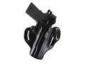 DeSantis Thumb Break Scabbard Belt Holster Right Hand 1911 Officer Suede Lined Leather Black