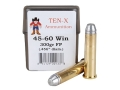 Ten-X Cowboy Ammunition 45-60 WCF 300 Grain Flat Point Box of 20