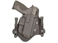 Comp-Tac QH Hybrid Inside the Waistband Holster Ambidextrous Size 4 1911 Government, Commander, Officer with or without Rail Kydex Black
