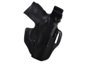 Bianchi 56 Serpent Outside the Waistband Holster Right Hand Smith & Wesson M&P 9C Leather Black