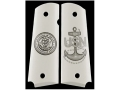 Hogue Grips 1911 Government, Commander Ivory Polymer Navy Insignia