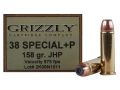 Grizzly Ammunition 38 Special +P 158 Grain Jacketed Hollow Point Box of 20