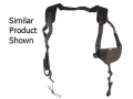 "Uncle Mike's Pro-Pak Horizontal Shoulder Holster Ambidextrous Medium, Large Frame Semi-Automatic 3-1/4"" to 3-3/4"" Barrel Nylon Black"