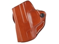 DeSantis Mini Scabbard Outside the Waistband Holster Left Hand Smith &amp; Wesson M&amp;P Shield Leather Tan
