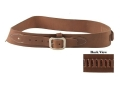Oklahoma Leather Cowboy Drop-Loop Cartridge Belt 44, 45 Caliber Leather Brown XL