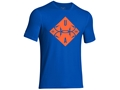Under Armour Men's UA Fish Diamond T-Shirt Short Sleeve Cotton and Polyester Blend