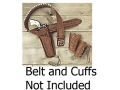 "Hunter 1088 Texas Jockstrap Holster Left Hand Colt Single Action Army, Ruger Blackhawk, Vaquero 4-.75 to 5.5"" Barrel Leather Brown"