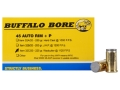 Buffalo Bore Ammunition 45 Auto Rim (Not ACP) +P 225 Grain Hard Cast Wadcutter Box of 20