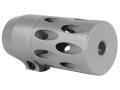 "Product detail of Volquartsen Forward Blow Stabilization Module Muzzle Brake .920"" Diameter Barrel Ruger 10/22, 10/22 Magnum Silver"