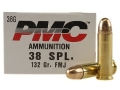 PMC Bronze Ammunition 38 Special 132 Grain Full Metal Jacket Box of 50