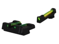 HIVIZ Sight Set Glock 10mm Auto, 45 ACP, 45 GAP Models (Except Compensated) Fiber Optic Green Rear, Interchangeable Red & Green Front