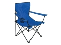 Texsport Bazaar Chair Steel Frame Nylon Seat and Back Blue
