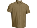 Under Armour Men's Chesapeake Short Sleeve Shirt Polyester Deer Hide XL 46-48