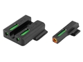 TRUGLO TFX Pro Sight Set Smith & Wesson M&P, SD9, SD40 Tritium / Fiber Optic Green with Orange Front Dot Outline