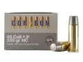 Cor-Bon Hunter Ammunition 45 Colt (Long Colt) +P 335 Grain Hard Cast Lead Flat Point Box of 20