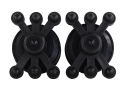 Bowjax Split Limb Monster Jax Bow Vibration Dampener Rubber Black Pack of 2