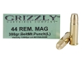 Product detail of Grizzly Ammunition 44 Remington Magnum 300 Grain PUNCH Long Box of 20