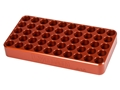 Lyman Aluminum Reloading Tray 0.565 Hole Diameter 7mm Remington Magnum, 300 WSM, 458 Winchester Magnum 50-Round Orange