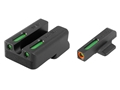 "TRUGLO TFX Pro Sight Set 1911 Novak Cut .270"" Height Front .450"" Height Rear Tritium / Fiber Optic Green with Orange Front Dot Outline"