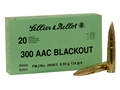 Sellier & Bellot Ammunition 300 AAC Blackout 124 Grain Full Metal Jacket