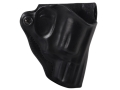 DeSantis Mini Scabbard Outside the Waistband Holster Right Hand Smith & Wesson J-Frame Leather Black