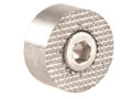 Product detail of Ed Brown Oversize Checkered Magazine Release Button 1911 Stainless Steel