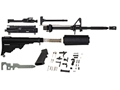 "DPMS AP4 AR-15 Unassembled Carbine Kit 5.56x45mm NATO 16"" Barrel with AP4 Upper Assembly, Collapsible Stock Assembly, Lower Receiver Parts Kit"