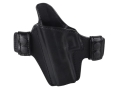 Bianchi Allusion Series 125 Consent Outside the Waistband Holster Left Hand Glock 17, 22, 31 Leather Black