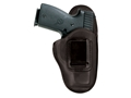"Bianchi 100 Professional Inside the Waistband Holster Ruger SP101, S&W J-Frame 2"" Barrel Leather Black"