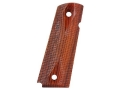 Ed Brown Grips 1911 Government, Commander Double Diamond Checkered Cocobolo