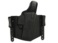 Comp-Tac FlatLine Convertible Belt and Inside the Waistband Holster Glock 26, 27, 28, 33 Kydex Black