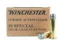 Winchester USA Cowboy Ammunition 38 Special 158 Grain Lead Flat Nose Case of 500 (10 Boxes of 50)