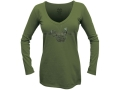 Realtree Girl Women's Spruce V-Neck T-Shirt Long Sleeve Cotton
