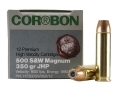 Cor-Bon Hunter Ammunition 500 S&amp;W Magnum 350 Grain Jacketed Hollow Point Box of 12