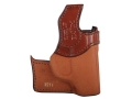 Product detail of Bianchi 152 Pocket Piece Pocket Holster Left Hand Ruger LCP, Kel-Tec P3AT, P32 Leather Brown