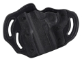 Product detail of DeSantis Intimidator Outside the Waistband Holster Left Hand 1911 Officer, Defender, EMP, Ultra Kydex and Leather Black
